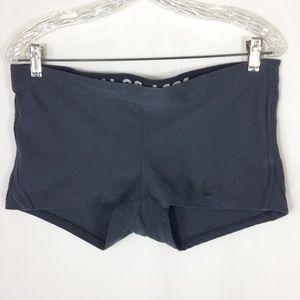Nike Grey Training Compression Shorts Large